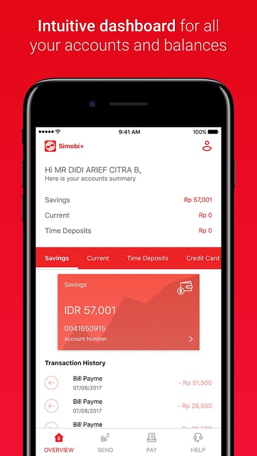 SimobiPlus Mobile Banking- screenshot