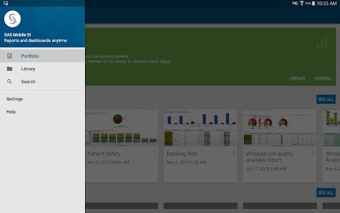 SAS Mobile BI- screenshot thumbnail