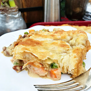 Cedar Planked Salmon Pot Pie Recipe