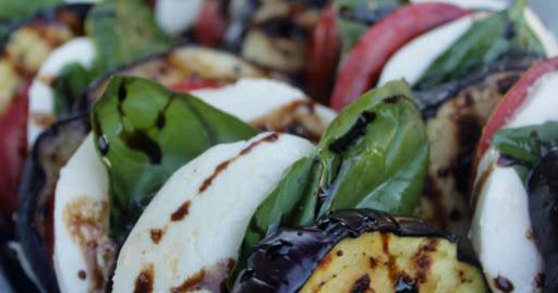 Eggplant & Tomato Caprese Salad