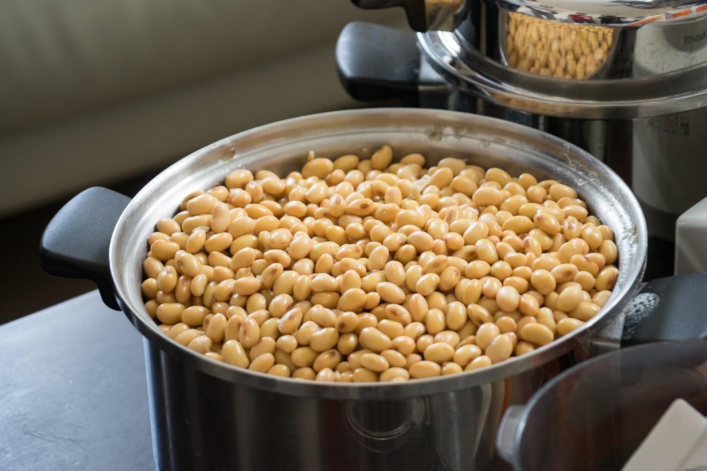 茹でた大豆・3Kg