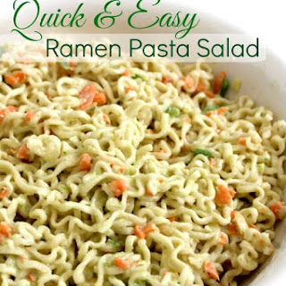 Quick and Easy Ramen Pasta Salad Recipe