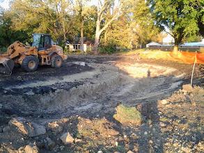 Photo: Bio Retention Pond Excavation 10-17-2013