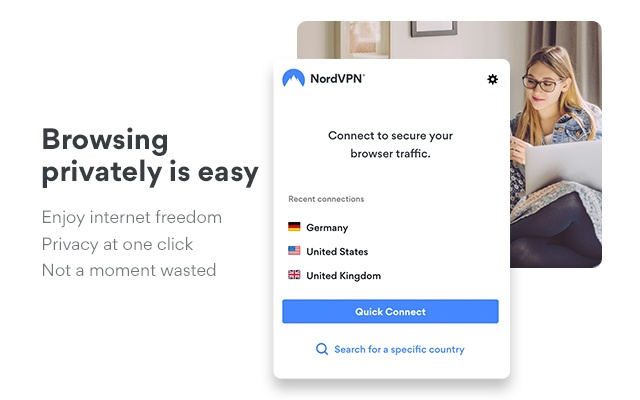 NordVPN - #1 VPN Proxy Extension for Chrome Capture d'écran