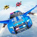 Flying Police Car Chase: Flying Car Simulator icon