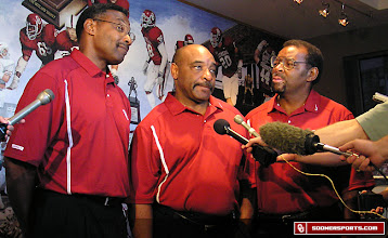 Photo: The Selmon brothers answer questions from the media in 2005.