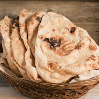 Whole Wheat Naan #BreadBakers.