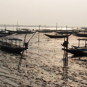 day over by Riju Banerjee - Transportation Boats