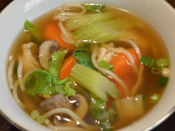 Chinese Noodles And Vegetables In Broth Recipe