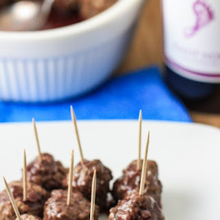 Mini Meatballs in Pinot Noir Sauce