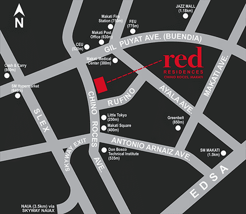 Red Residences location map