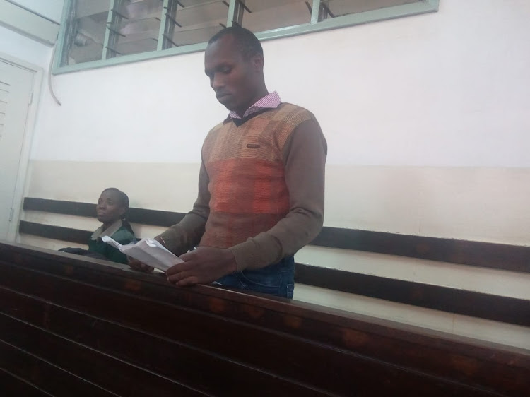 Nelson Vasereze in Kibera court on Friday.