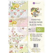 Prima Double-Sided Paper Pad A4 30/Pkg - Fruit Paradise UTGÅENDE