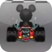Racing Mickey-Mouse Car