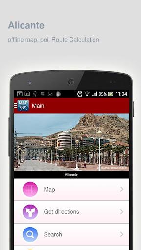 Alicante Map offline