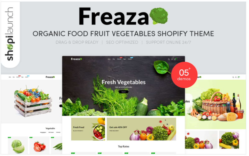 Food Clean shopify theme