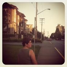 Photo: Our street uphill #intercer #britishcolumbia #canada #vancouver #city #street #mountain #sky #cars #evening #nature #instanature #dusk #light #dark #pol #view #building #appartment #sun #woman - via Instagram, http://instagr.am/p/Njd51MJfpM/