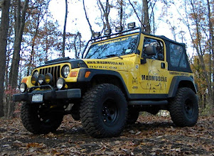 "Photo: Yellow Rubicon with Tera Flex 3 Inch kit and 33"" Tall tires"