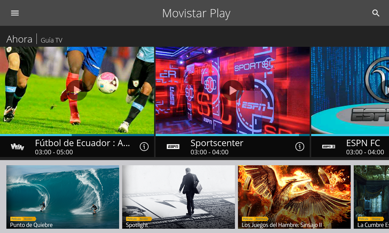 Movistar Play- screenshot