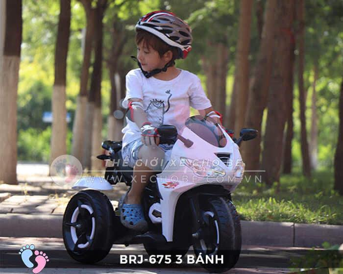Xe máy điện trẻ em brj-675 có điều khiển từ xa