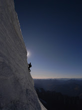 Photo: The final step to the summit ridge on the first ascent of Ren Zhong Feng