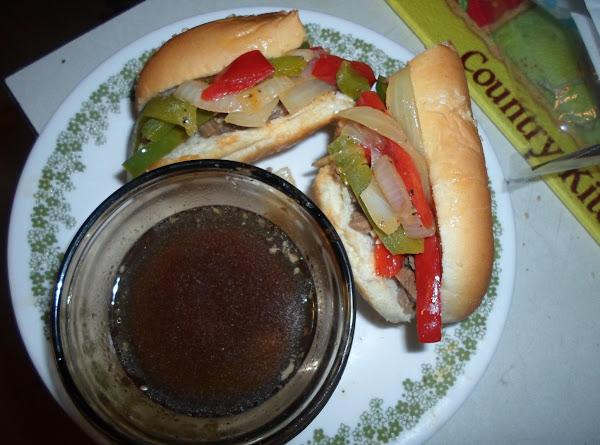 Kentucky's-beef & Peppers Sandwich W/au-jus Recipe