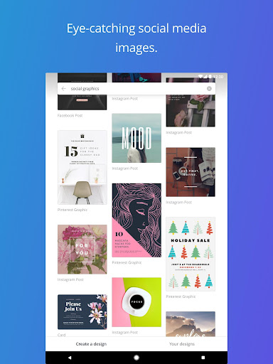 Canva - Free Photo Editor & Graphic Design Tool app (apk) free download for Android/PC/Windows screenshot