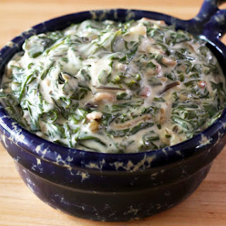 Creamed Swiss Chard with Bacon Recipe