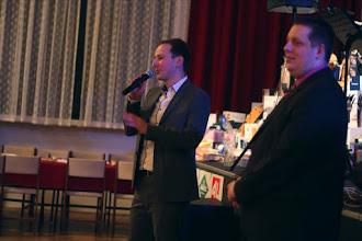 Photo: Zahájení plesu vč. úvodního slova ředitele BŠŠ ing. Petrem Zárubou (vpravo)