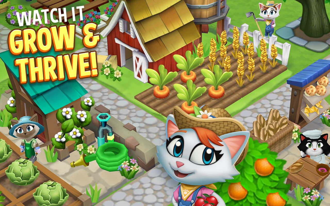 Kitty City: Help Cute Cats Build & Harvest Crops- screenshot
