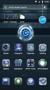 Planet-APUS Launcher theme- screenshot thumbnail