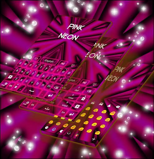 Teclado Neon Pink GO Aplicaciones (apk) descarga gratuita para Android/PC/Windows screenshot