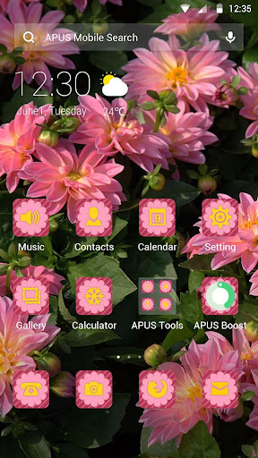 Flowers|APUS Launcher theme screenshots 1
