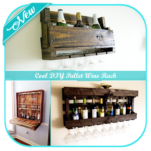 Cool DIY Pallet Wine Rack