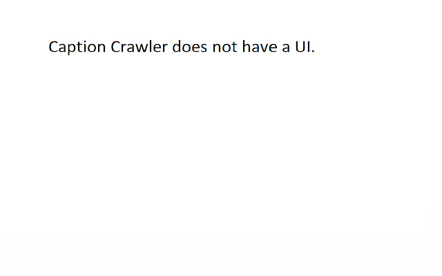 CaptionCrawler