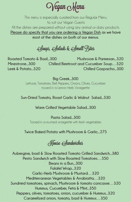 Rose Cafe menu 8