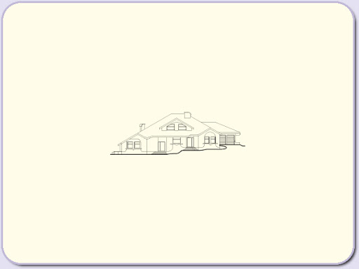 Almandyn - Elewacja przednia