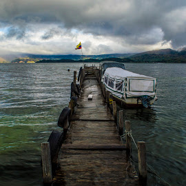 Amazing Lake by Andrius La Rotta Esquivel - Buildings & Architecture Bridges & Suspended Structures ( cool, amazing, structure, beautiful, lake )