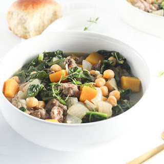 Sausage, Kale, and Butternut Squash Soup.