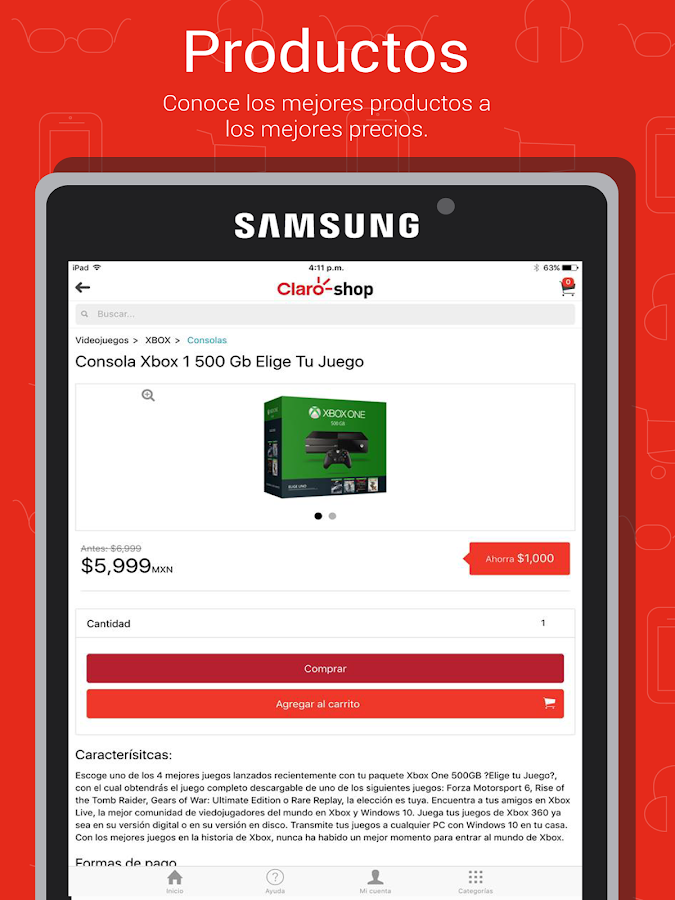 Claro shop- screenshot