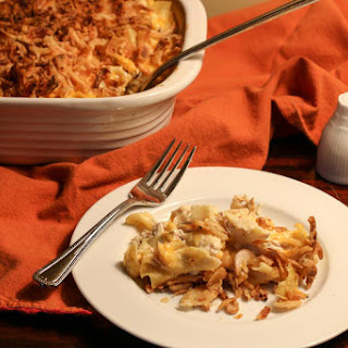 French Onion Chicken Noodle Casserole.