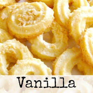 Vanilla Butter Ring Cookies.