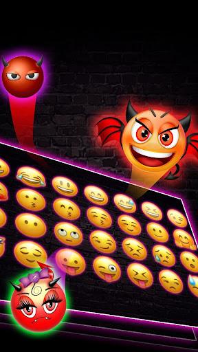 Sparkle Neon Lights  Keyboard Theme 10001004 screenshots 3