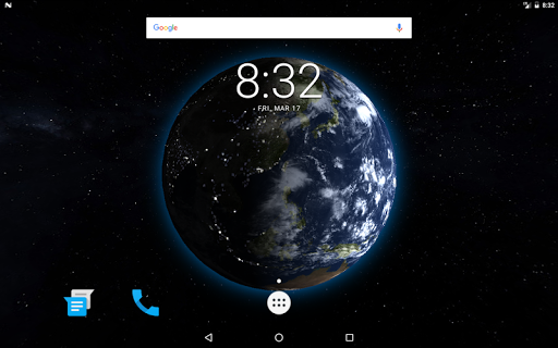 Earth 3D Live Wallpaper app for Android screenshot