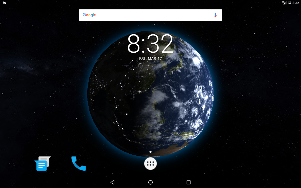 Google themes earth - Earth 3d Live Wallpaper Screenshot