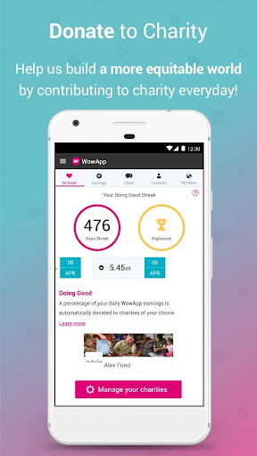 WowApp - Earn. Share. Do Good for PC