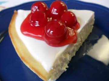 No Crust Cherry Cheesecake
