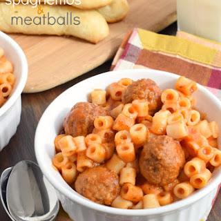 Homemade Spaghettios and Meatballs