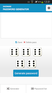 Diceware Password Generator.- screenshot thumbnail