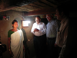 Photo: MW The Grand Master in a beneficiary's home at Kapparamajji